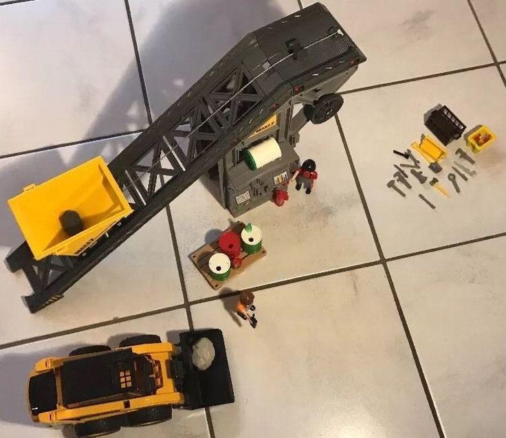 Playmobil Bau Förderanlage 4041 mit Kompaktbagger Bruder Bobcat