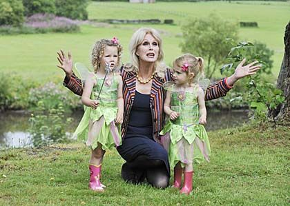 joanna lumley and some fairies