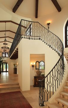 Spanish Colonial Home - Traditional Style - Entry - Stairway