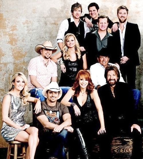 Country music stars! I am glad Taylor Swift is not in here! <---I didn't even write the previous caption but it was great! lol.