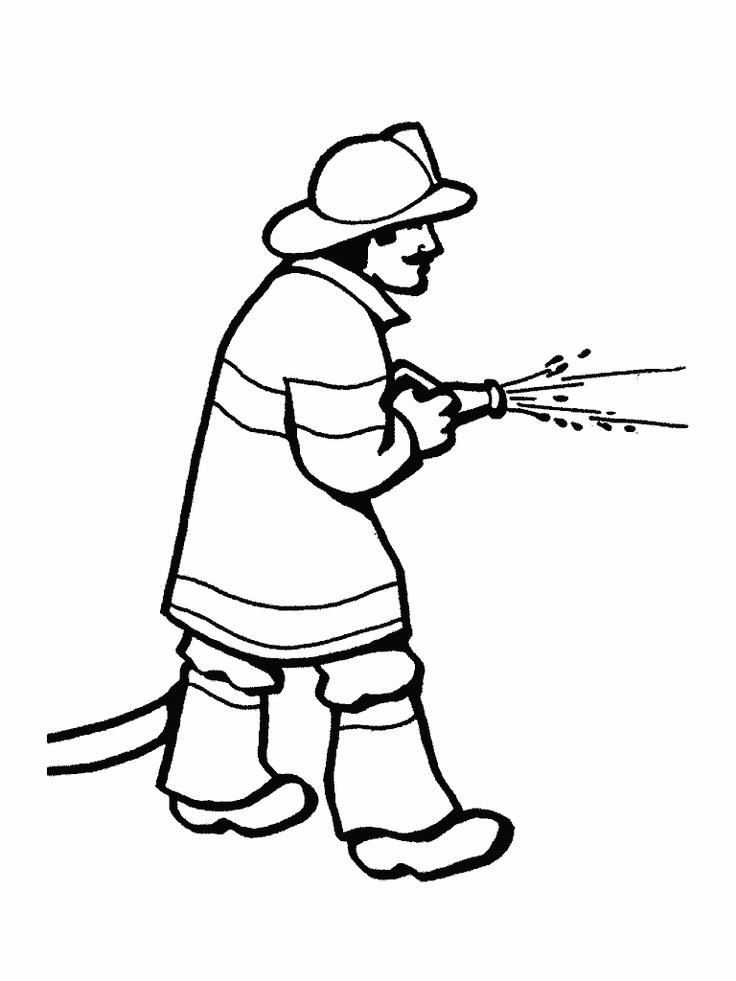 рисунок пожарника поэтапно этот