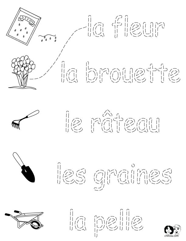 french worksheets for kids spring printout french french activities for children www. Black Bedroom Furniture Sets. Home Design Ideas