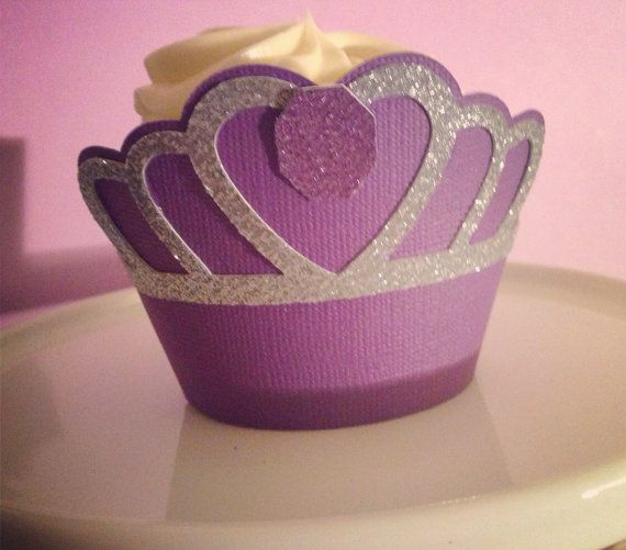 Princess cupcake wrappers, Sofia the first cupcake wrapper, princess party decor on Etsy, $12.00