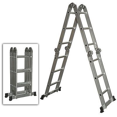 Multi Purpose Aluminum Ladder Folding Step Ladder Extendable Heavy Duty #Home #Garden #Tools #SKY528