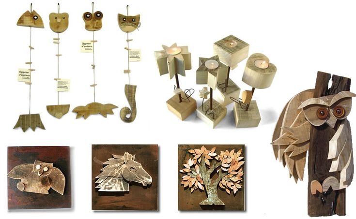 Amato Oltre 25 fantastiche idee su Piccoli oggetti in legno fatti a mano  XA57