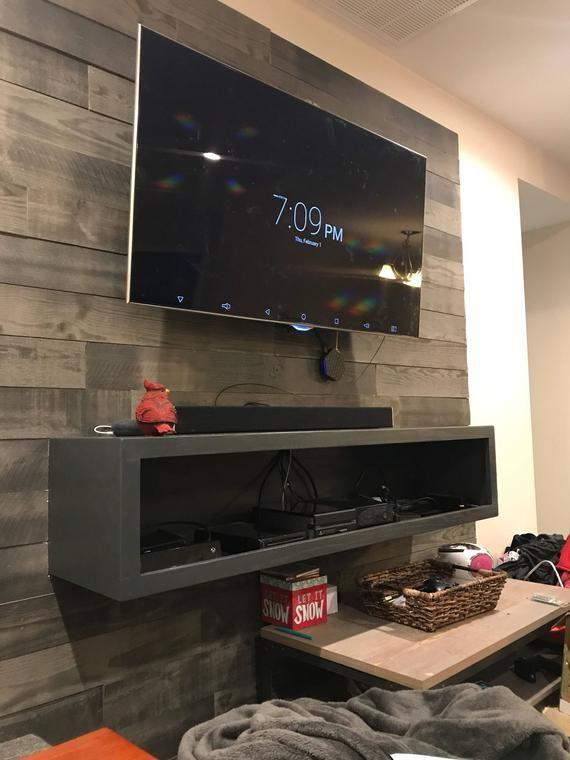 Unite Flottante Etagere Pour Consoles Tv Hifi Etsy Living Room Entertainment Home Theater Rooms Home Room Design