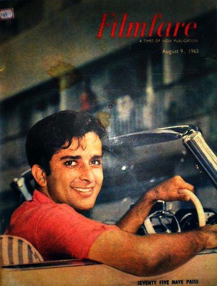 Vintage Filmfar magazine cover with Shashi Kapoor - #Shashi #Bollywood - 27.media.tumblr.c... - ♥ Rhea Khan