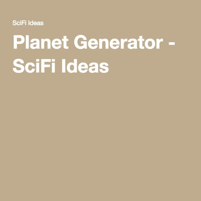 Quickly generate a name for your Sci Fi world!