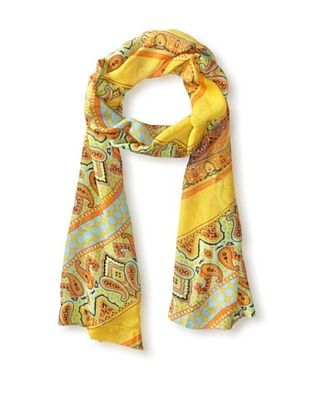 59% OFF Hale Bob Women's Multi-Pattern Scarf, Orange Multi