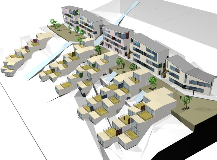 Housing project _  Residential building _ Architecture integrated in landscape