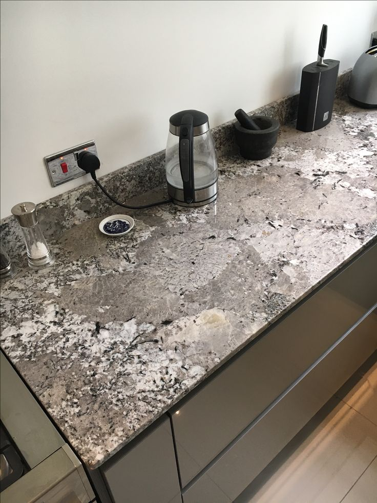 Bianco Antico granite from the Sensa range by Silestone - made and fitted by Stone of Destiny