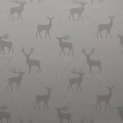 Jacquard grey w deer - Perfect for a christmas table cloth, curtains or pillows.