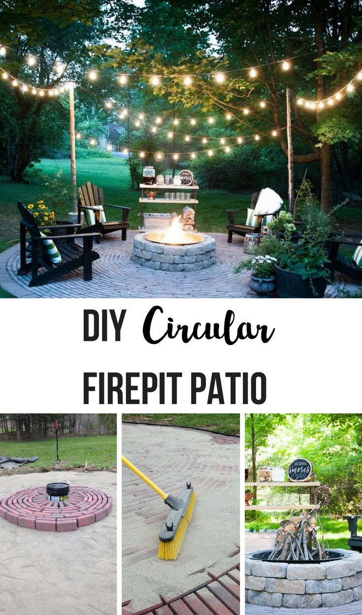 Firepit Patio Country Cottage Diy Circular Outdoor Entertaining