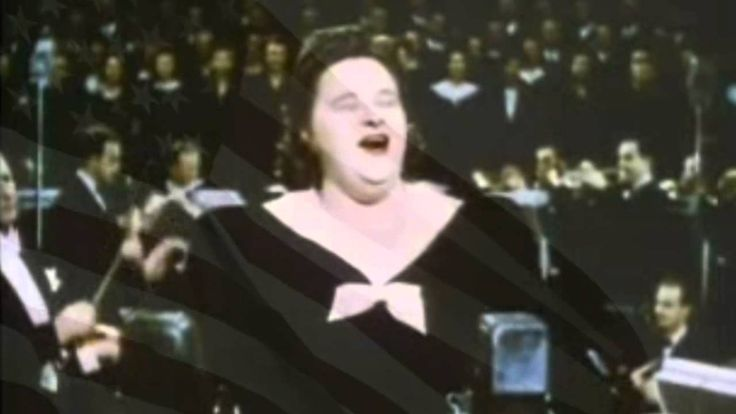 Kate Smith, God Bless America I HAVE LOVED HEARING MS. KATE SMITH SINCE VERY YOUNG! WE AMERICANS NEED TO GET MORE PATRIOTIC AND BOND TOGETHER! NOT TEAR IT DOWN BY LETTING POLITICIANS ATTACK IT! THIS SONG SHOULD BE SUNG WITH THE NATIONAL ANTHEM ALWAYS! GOD BLESS AMERICA! XXXXOOOO <3 <3 <3