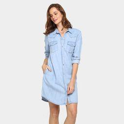 Vestido Mercatto Chemisie Jeans - Jeans