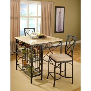 Shop for Bernards Kitchen Island with 2 Barstools. Get free delivery at Overstock.com - Your Online Furniture Shop! Get 5% in rewards with Club O!