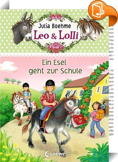 Leo & Lolli 3 - Ein Esel geht zur Schule    :  So ein Schock! Ausgerechnet an Lulus erstem Tag an der neuen Schule ist ihre beste Freundin Melina krank. Wenigstens darf Lulu auf ihrem geliebten Esel Leo in die Schule reiten. Dort lernt sie zum Glück auch gleich zwei nette Mädchen kennen. Aber ausgerechnet die können Melina nicht leiden. Dabei hatte Lulu schon von einem unschlagbaren Viererteam geträumt! Doch dann kommen Leo, Lolli und ein paar entlaufene Gänse zu Hilfe.   In ihrer Reih...