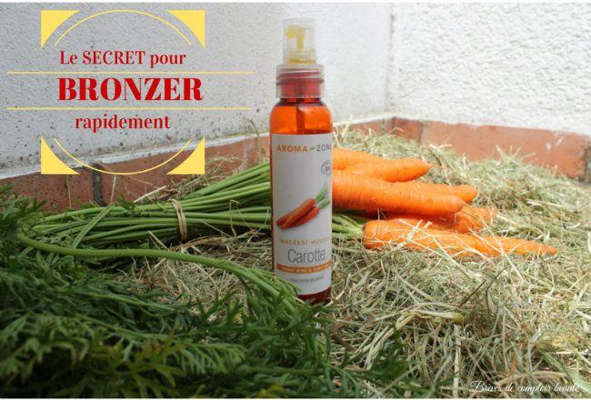 bronzer vite  mode d emploi huile macerat de carotte