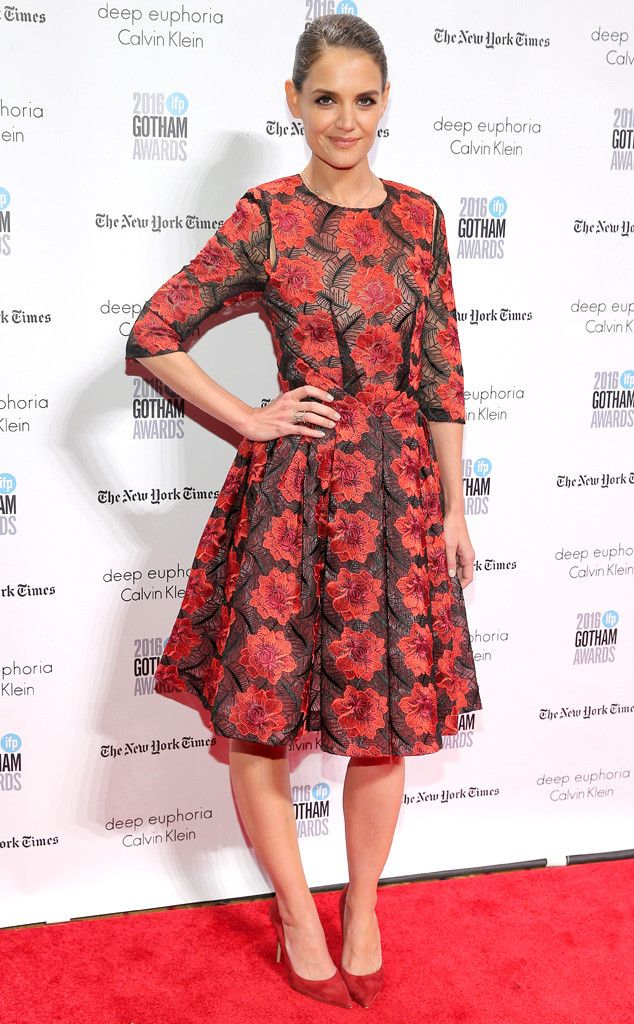 Katie Holmes from Gotham Independent Film Awards 2016 Red Carpet Arrivals  Five stars for the actress' floral dress.
