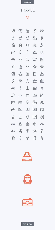 Travel icon set on Behance