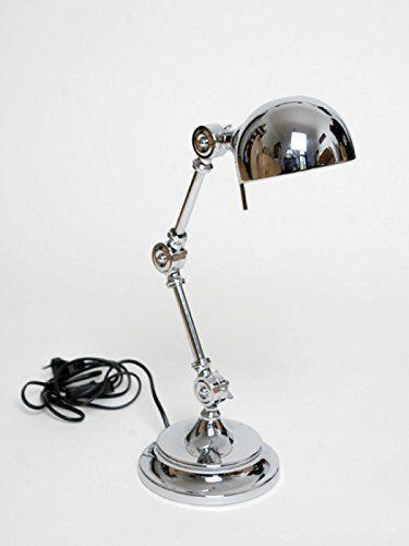 SCRIVANIA - LUCE LAMPADA DA SCRIVANIA UFFICIO LAMPADA METALLO ARGENTO CROMO GIUNTO NUOVO + BRILLIBRUM FLYER EURO 98,00
