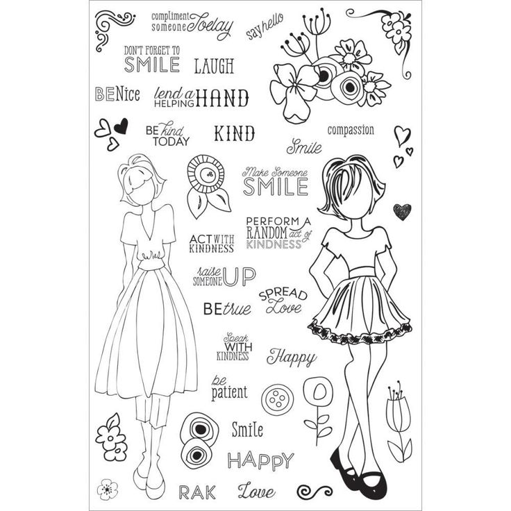 Prima Marketing Planner Clear Stamps,Make Kindness Happen, By Julie Nutting -  now available at The Rubber Buggy