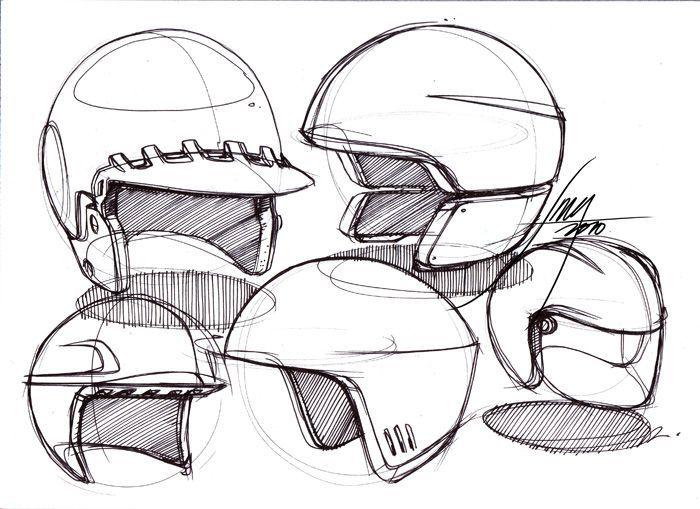 helmet sketch - Google Search