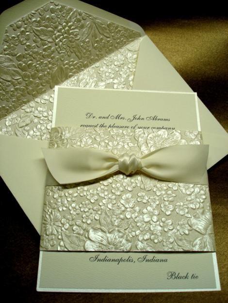 444 best wedding invitations images on pinterest invitations use an embossing folder on colored cardstock elegant stopboris Choice Image