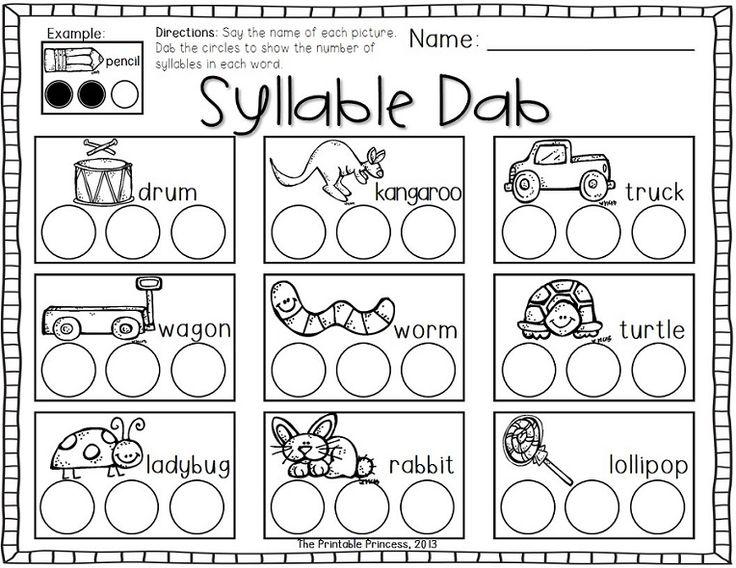 kindergarten syllable worksheets calleveryonedaveday. Black Bedroom Furniture Sets. Home Design Ideas