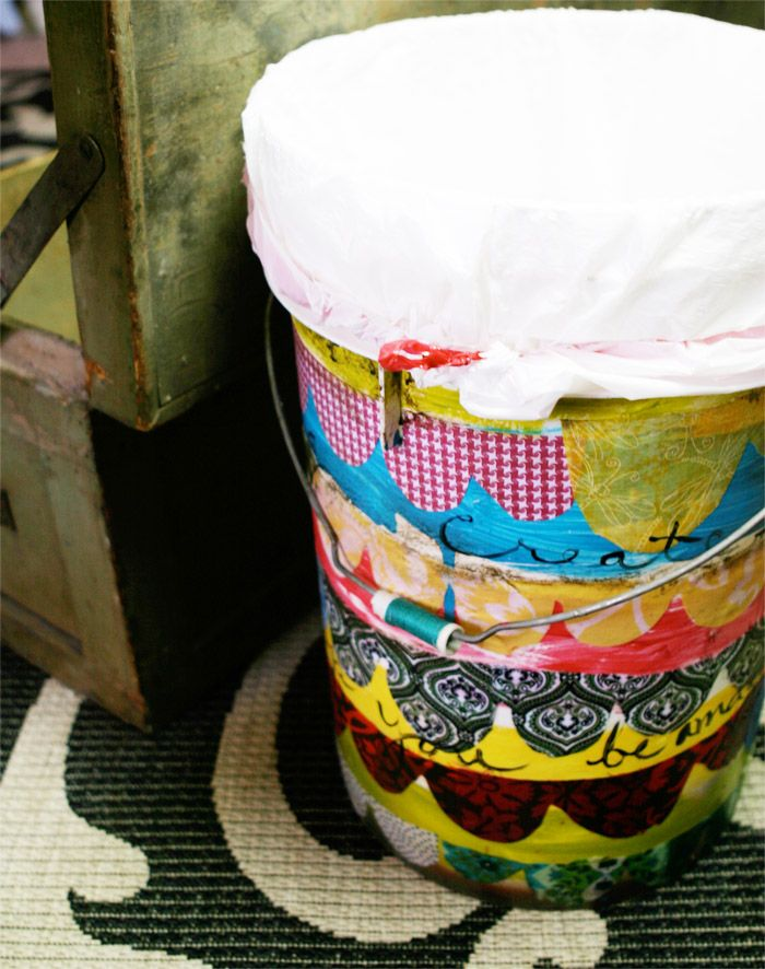 253 Best Hand Painted Trash Cans Images On Pinterest Craft Ideas Rhpinterest: Girls Garbage Can For Bedroom At Home Improvement Advice