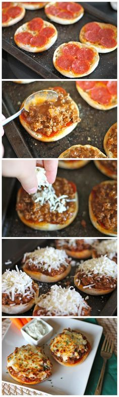 Pizza Burgers made this but used regular hamburger buns. was a good way to use up leftover buns. Ingredients 1 medium onion, choppe...