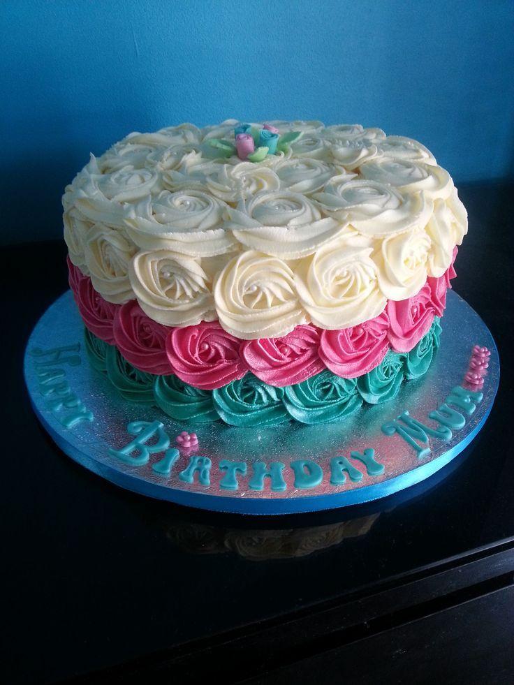 Best 25+ Rose swirl cake ideas on Pinterest Rosette cake ...