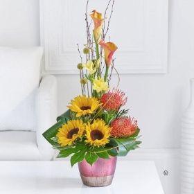 Sunflower and Calla Arrangement *