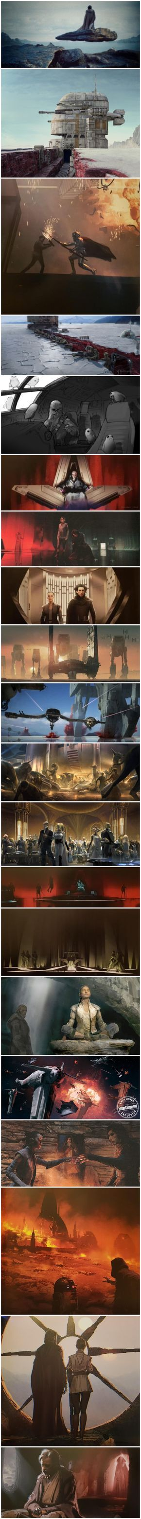 STAR WARS E p i s o d e V I I I The L A S T J E D I - concept art and pre-prduction paintings by various artists, from Lucasfilm Ltd.