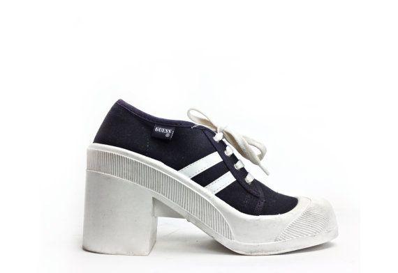 Chunky Heel Sneakers | Tsaa Heel