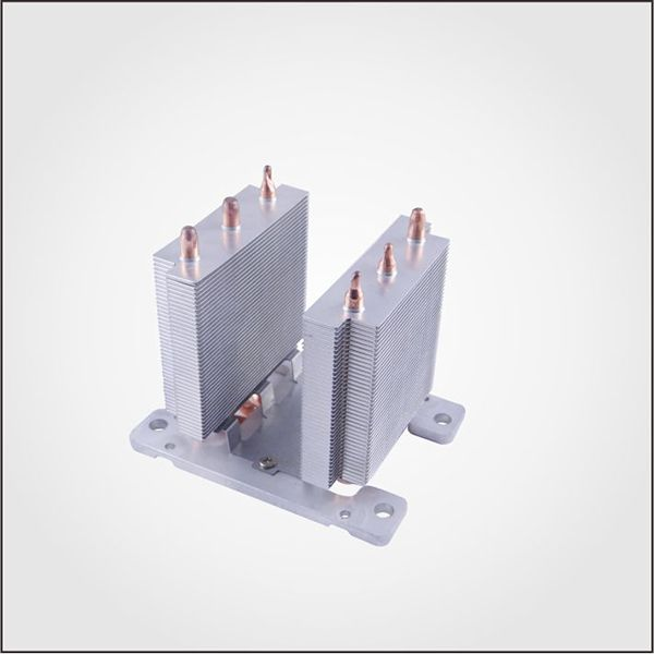 Aluminum heat pipe heat sink for cooling system. #heatpipeheatsink #heatsink #heatpipe