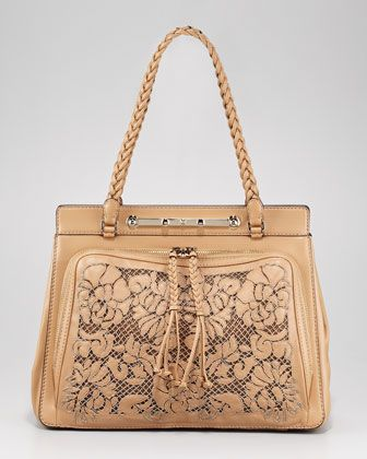 Valentino Demetra Beaded Leather-Lace BagLady Xeona, Leather Lac Bags, Beads Leather Lac, Stunning Details, Things Lace, Demetra Beads, Bergdorf Goodman, Valentino Demetra, Neiman Marcus