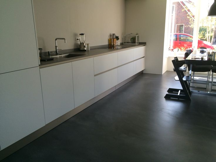 Moderne keuken witte keuken strakke keuken dun - Betegeld zwart wit geblokte keuken ...