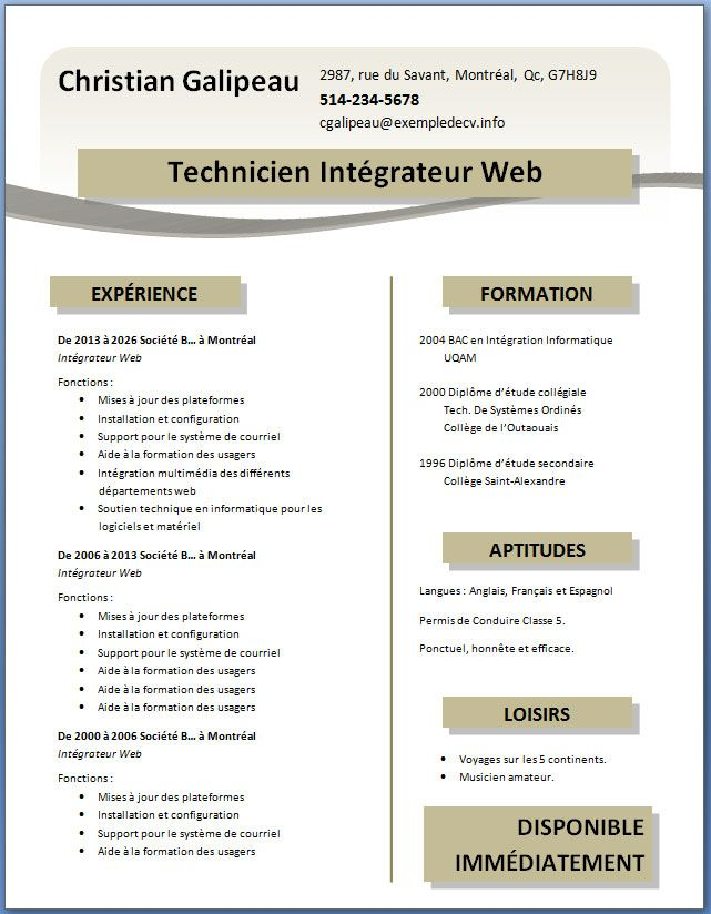 Mod les de cv t l charger gratuitement word pdf - Telecharger open office gratuitement sans virus ...