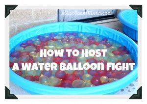 How to Prepare for a Water Balloon Fight *I cant wait to do this!! Im thinking white t shirts, little bit of food coloring and so much fun!