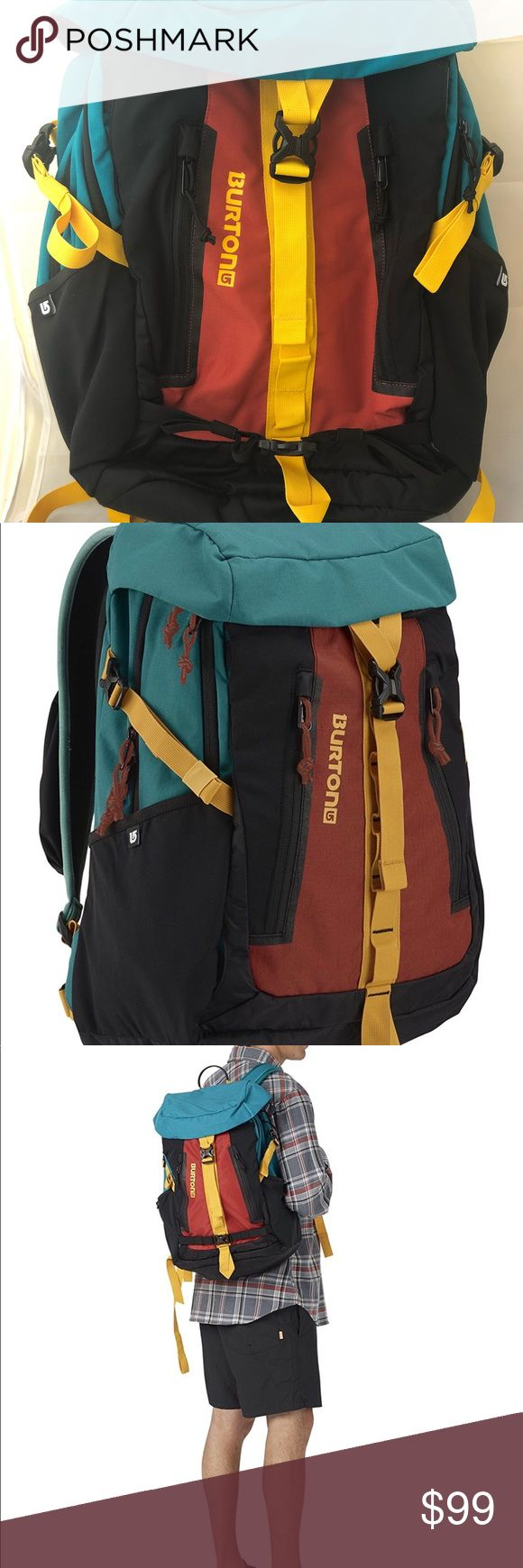Burton Day Hiker Pinnacle 31 L Backpack Tandori Burton Day Hiker Pinnacle 31 L Backpack Tandori Ripstop, One Size. NWT Product Overview 31L [20in x 13in x 7.5in] [50cm x 34cm x 19cm] 2.3 lbs./ 1kg Cush Ergonomic Shoulder Harness with Adjustable Sternum Strap, Shoulder Pocket and Removable Waist Strap Padded Laptop/ Hydration Sleeve [16.5in x 10.5in x 1.5in] [42cm x 26.5cm x 4cm] Additional Tablet Sleeve [10.5in x 8.5in] [26.5cm x 21.5cm] Fleece-Lined Goggle Pocket, Stowable Board / Cinch…