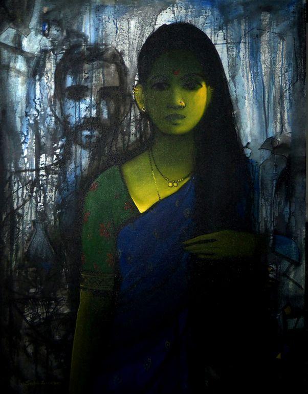 """Saatchi Art Artist: sachin sagare; Acrylic 2013 Painting """"women """""""