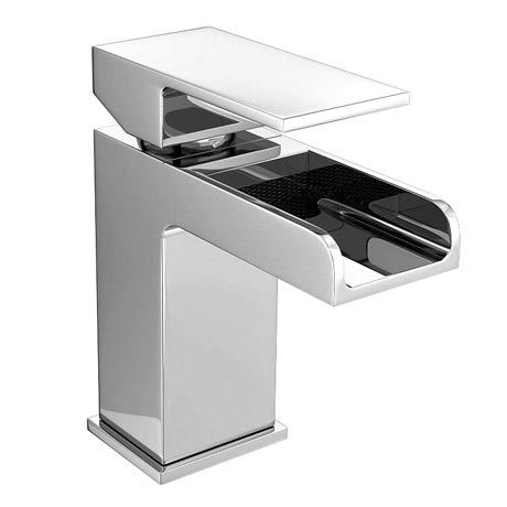Plaza Waterfall Mono Basin Mixer with Waste - Chrome