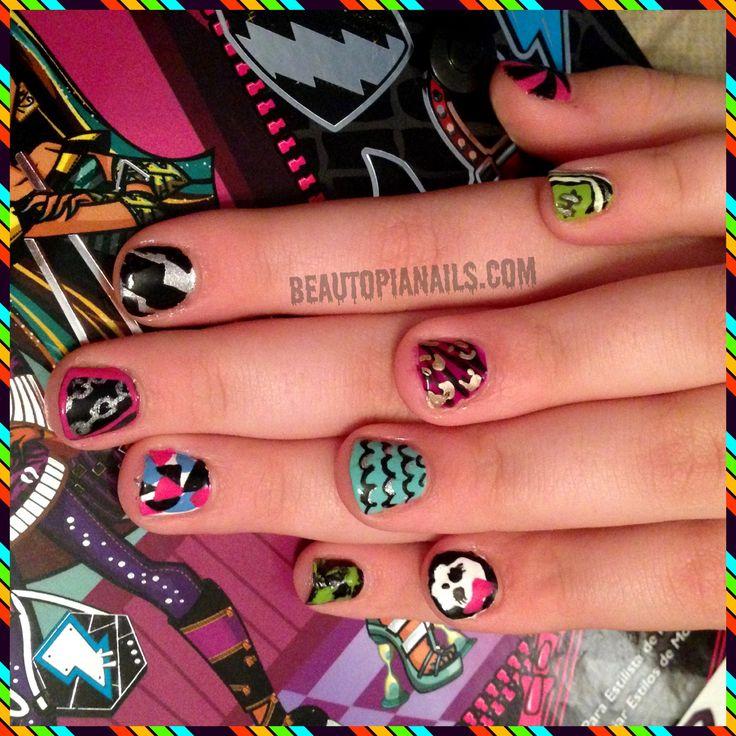 Monster High Inspired Nail Art Nails Nails Nails Pinterest