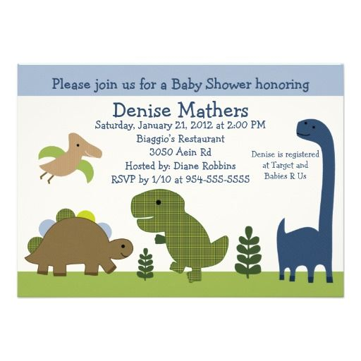 336 best dinosaur baby shower invitations images on pinterest, Birthday invitations