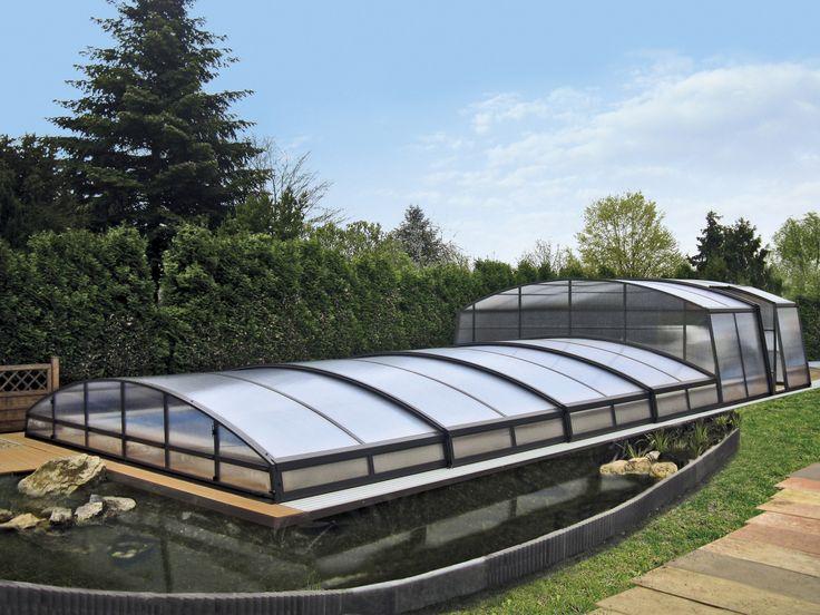 Vysoká vstupní a nízká bazénová část je nejčastější kombinace zastřešení bazénů COMBI.