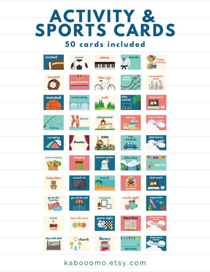 Activity and Sports Routine Cards chores task cards chore