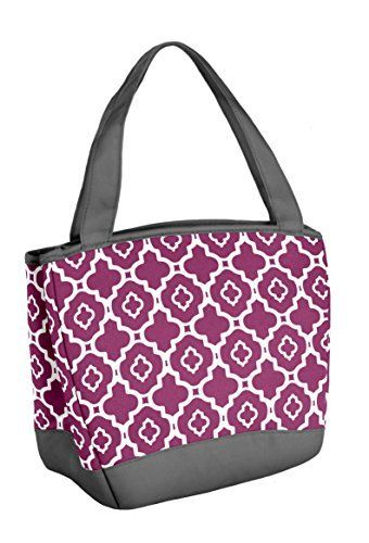 Fit and Fresh Fit & Fresh Hyannis Insulated Lunch Bag with Reusable Ice Pack (Marron Ikat Geo), , Maroon Ikat Geo
