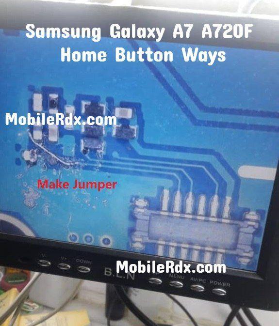 Samsung Galaxy A7 A720f Home Button Ways Home Key Jumper Falla Teclado Moviles Samsung Galaxy Samsung Phone Solutions