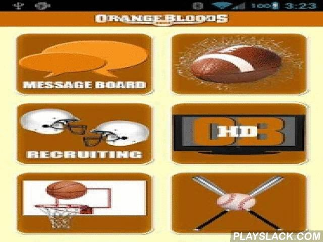 Orangebloods.com  Android App - playslack.com ,  Orangebloods.com provides the most in-depth coverage of the Texas Longhorns. The No. 1 site on the Rivals network, Orangebloods.com gives you breaking news and analysis on Texas football, basketball, baseball and recruiting as well as a one-of-a-kind message board community. Download the Orangebloods.com app to get your ticket inside the 40 acres whenever and wherever you want.